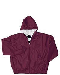 Classroom Uniforms Burgundy Zip Front Bomber Jacket School Uniform Adult M