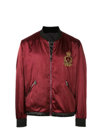Dolce & Gabbana Logo Patch Bomber Jacket