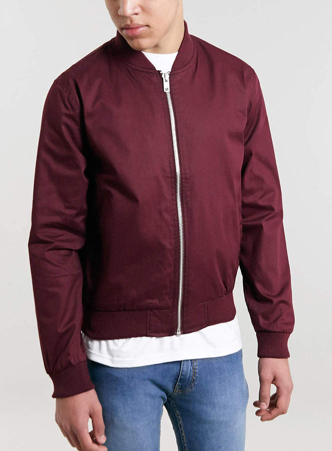 Topman Burgundy Bomber Jacket Where To Buy Amp How To Wear