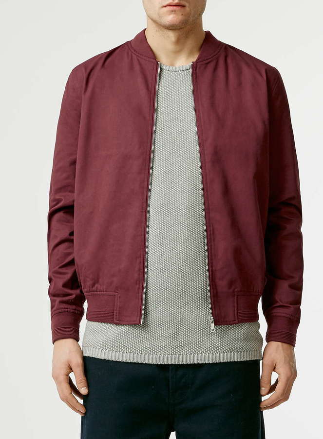 Topman Burgundy Cotton Bomber Jacket | Where to buy & how to wear