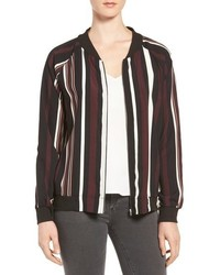 Vertical stripe bomber jacket medium 952095