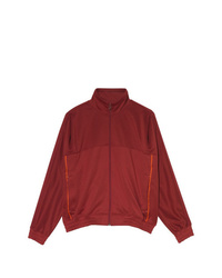 Nike X Martine Rose Maroon Zip Up Track Jacket