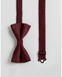 Asos Bow Tie In Burgundy