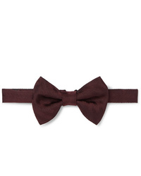 Dunhill Pre Tied Herringbone Mulberry Silk Bow Tie