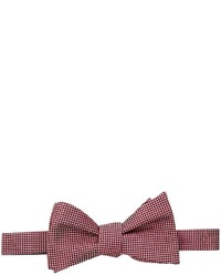 Tommy Hilfiger Textured Solid Self Tie Bow Ties