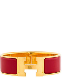 Hermes Herms Wide Enamel Clic Clac Bracelet