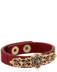 Jessica Simpson Winter Solstice Burgundy Bracelet 8