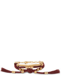 Otis gold tone cord bracelet burgundy medium 5084388
