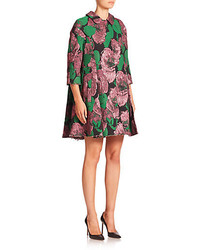 Kira floral brocade swing coat medium 319613