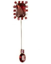 Oscar de la Renta Crystal Embellished Brooch