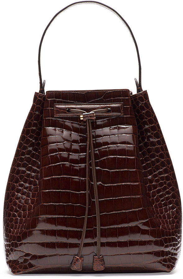 73cf2453323246 The Row Bucket 9 Crocodile Bombe Bag Cognac, $38,000 | Neiman Marcus ...