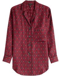 Gabrielle printed silk blouse medium 424994