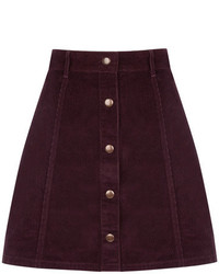 Oasis cord button mini skirt medium 373333