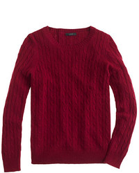 Burgundy cable sweater original 1333275