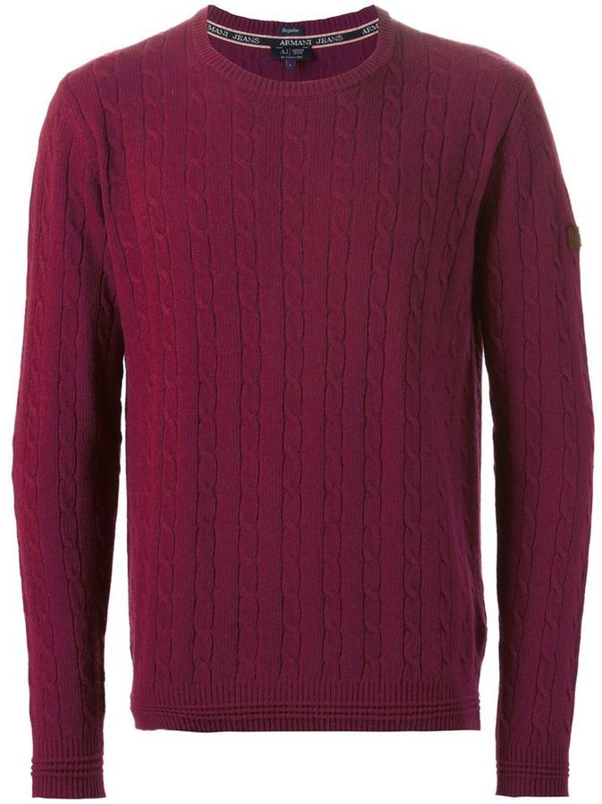 Armani Jeans Cable Knit Sweater Where To Buy How To Wear