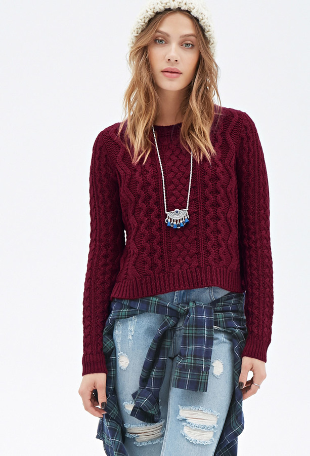 Forever 21 Boxy Cable Knit Sweater Where To Buy How To Wear