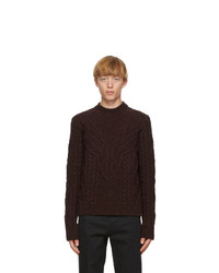 DSQUARED2 Burgundy Wool Canadian Knit Sweater