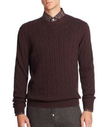 Ermenegildo Zegna Cable Knit Cashmere Sweater