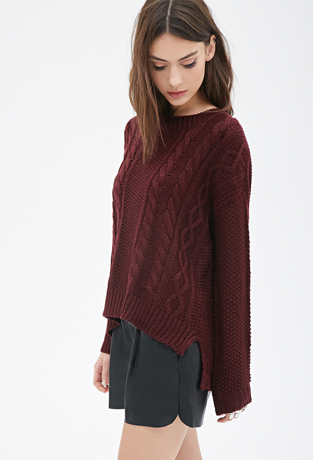 ... Forever 21 Cable Knit Sweater ...