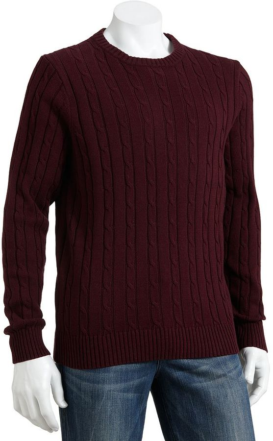 Croft Barrow Heavyweight Cable Knit Sweater Where To Buy How To Wear