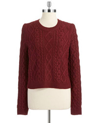 RD Style Cropped Cable Knit Sweater