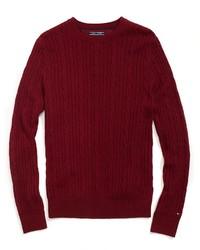 Tommy Hilfiger Final Sale  Custom Fit Cable Knit Crewneck