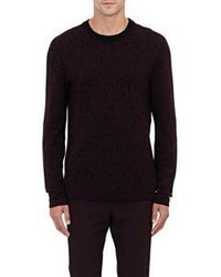 Lanvin Intarsia Knit Sweater Red