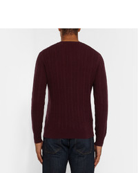 Burberry London Slim Fit Cable Knit Cashmere Sweater, $695