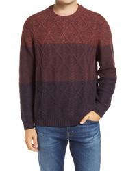Tommy Bahama Ocean Crewneck Colorblock Wool Blend Sweater
