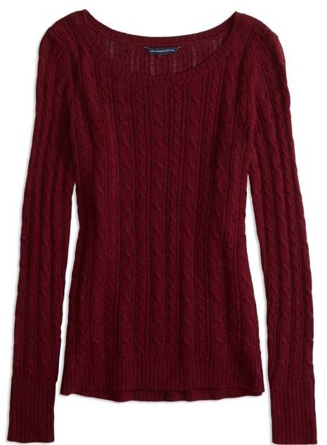 American Eagle Outfitters Radiant Orchid Factory Cable Knit ...