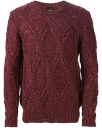 Paul Smith Ps Cable Knit Sweater