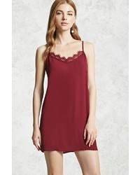 Forever 21 Lace Trim V Neck Cami Dress