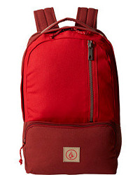 Burgundy Canvas Backpack