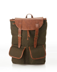 21men 21 Faux Leather Trimmed Backpack | Where to buy & how to wear