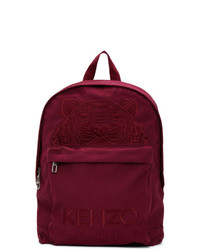 Kenzo Purple Canvas Kampus Tiger Backpack