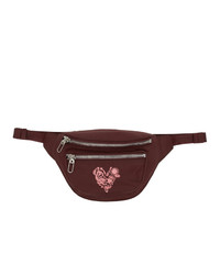 Kenzo Burgundy Limited Edition Valentines Day Mini Lucky Star Belt Bag