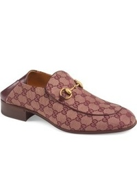 Burgundy Canvas Loafers