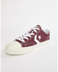 Converse Star Player Ox Plimsolls In Red 161570c