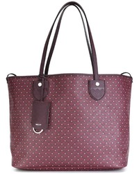Burgundy Canvas Tote Bag