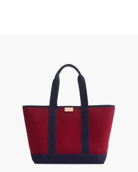 J.Crew Surfside Canvas Tote Bag