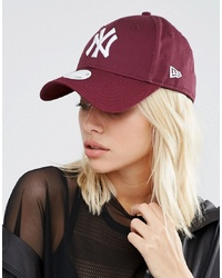 New Era 9 Forty Ny Cap In Berry