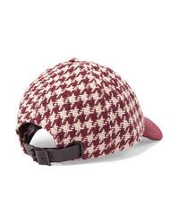 Rag & Bone Marilyn Med Houndstooth Cotton Tweed Baseball Cap