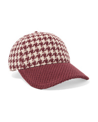 Rag & Bone Marilyn Med Houndstooth Cotton Tweed Baseball Cap