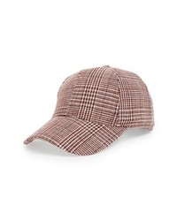 Sole Society Plaid Baseball Cap