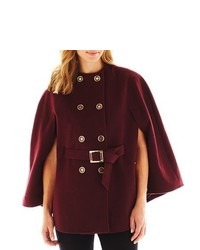 Burgundy Cape Coat