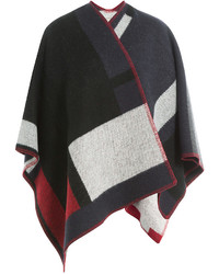 Burberry London Wool Cape With Cashmere