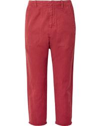 Nili Lotan Luna Cropped Cotton And Twill Pants