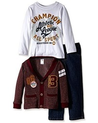 Boyzwear Little Boys 3 Piece Cardigan Set With Champion All Sport Pullover