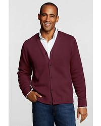 Lands' End Button Front Drifter Cardigan Sweater