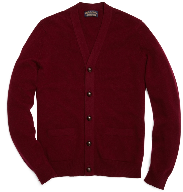 Brooks Brothers Cashmere Button Front Cardigan | Where to buy ...